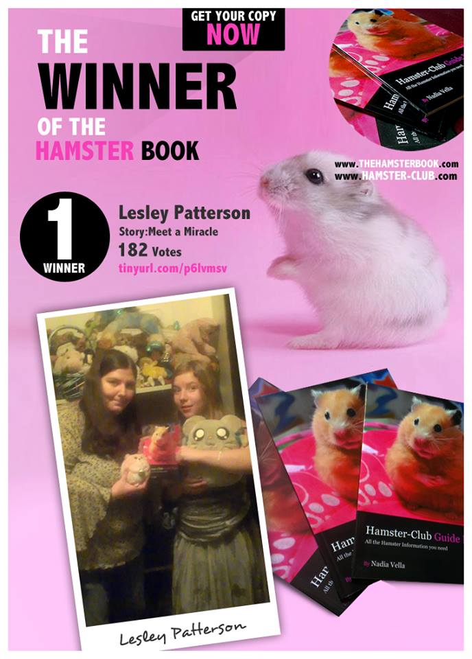 Lesley Patterson - winner of Hamster Club Competition