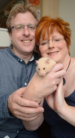 Rolo the hamster and her family
