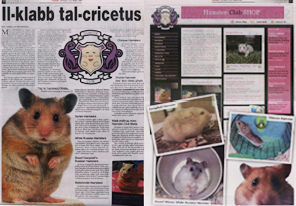 Hamster-Club featured in newspapers and magazines!!!